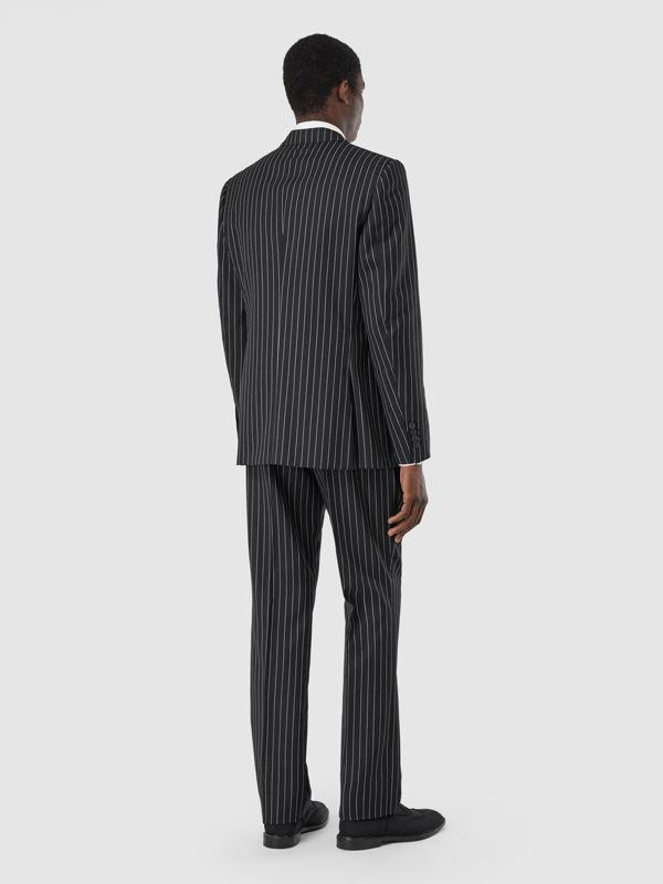English Fit Pinstriped Wool Suit in Black - Men | Burberry United Kingdom - cell image 2