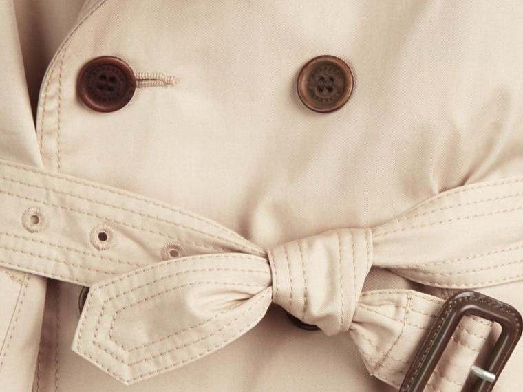 Hooded Cotton Twill Trench Coat - Boy | Burberry Australia - cell image 1