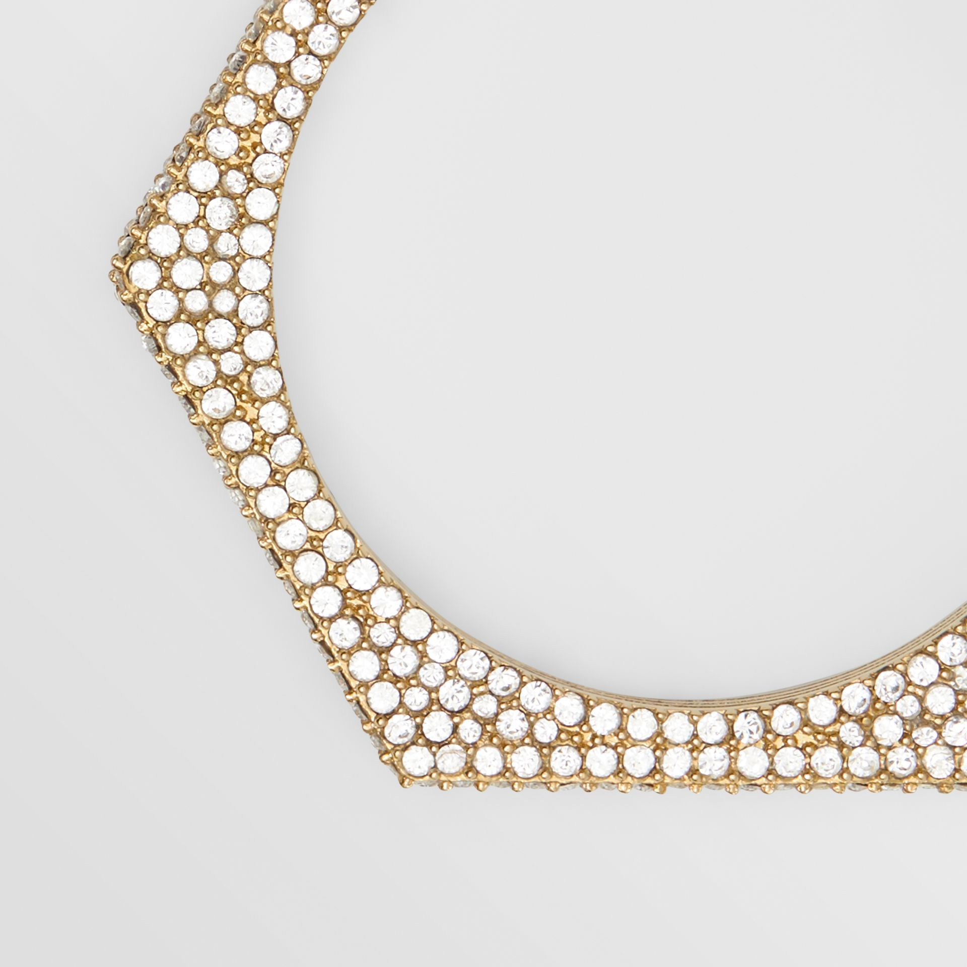 Crystal Detail Gold-plated Nut Hoop Earrings in Light Gold/crystal - Women   Burberry United Kingdom - gallery image 1