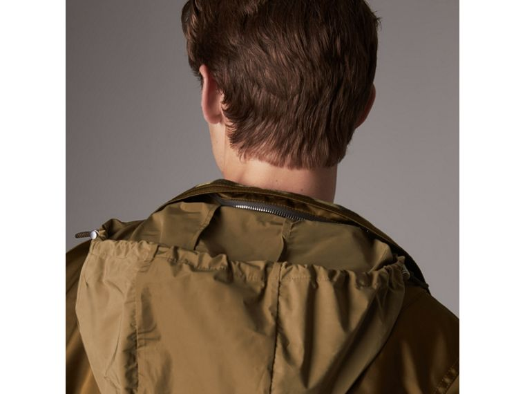 Nylon Bomber Jacket with Packaway Hood in Khaki Brown - Men | Burberry - cell image 4