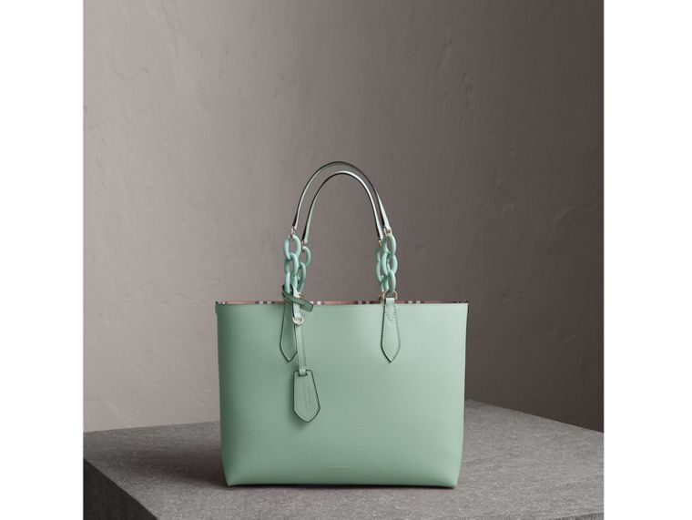 The Small Reversible Tote with Resin Chain in Pale Opal - Women | Burberry Canada - cell image 1