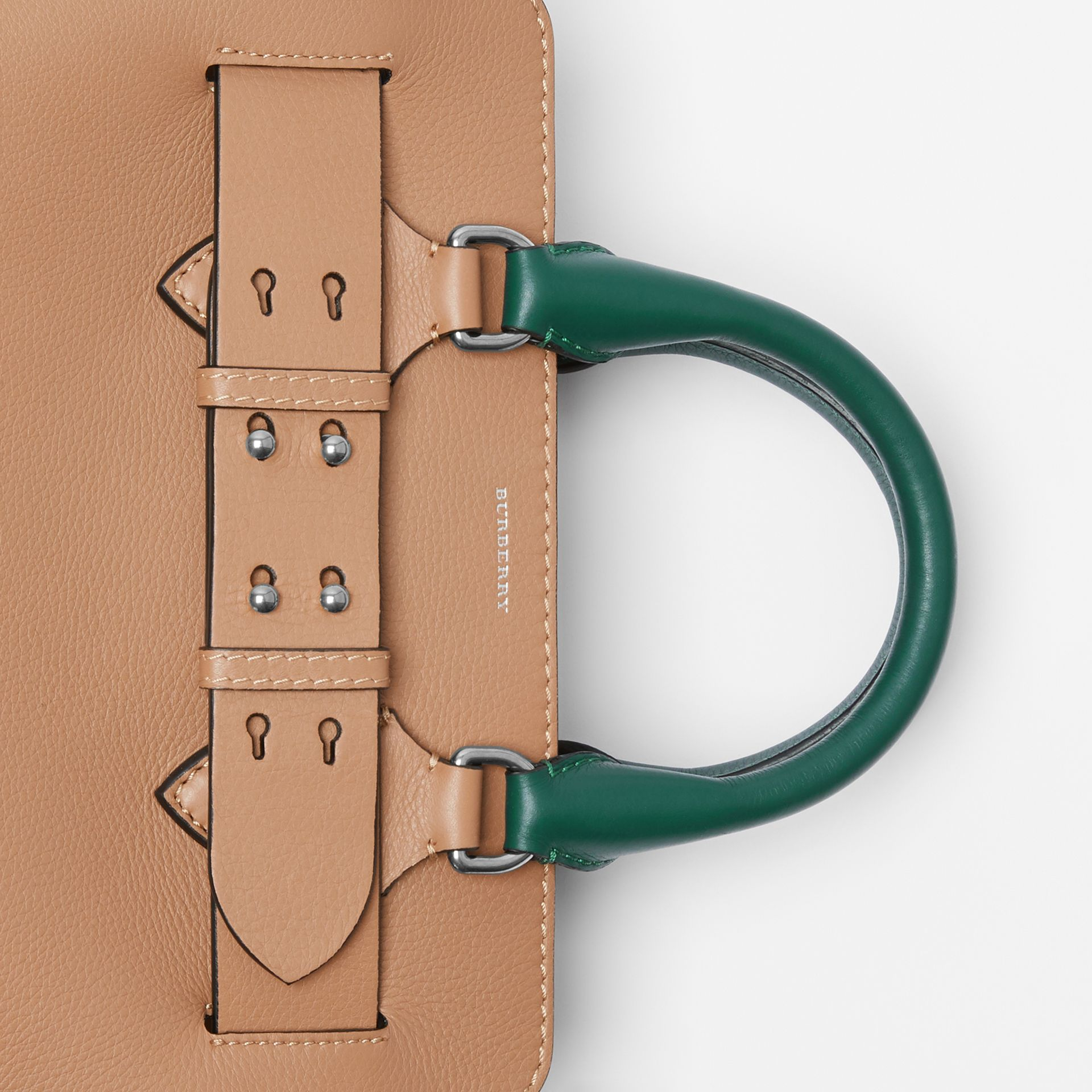 The Small Tri-tone Leather Belt Bag in Light Camel - Women | Burberry - gallery image 1