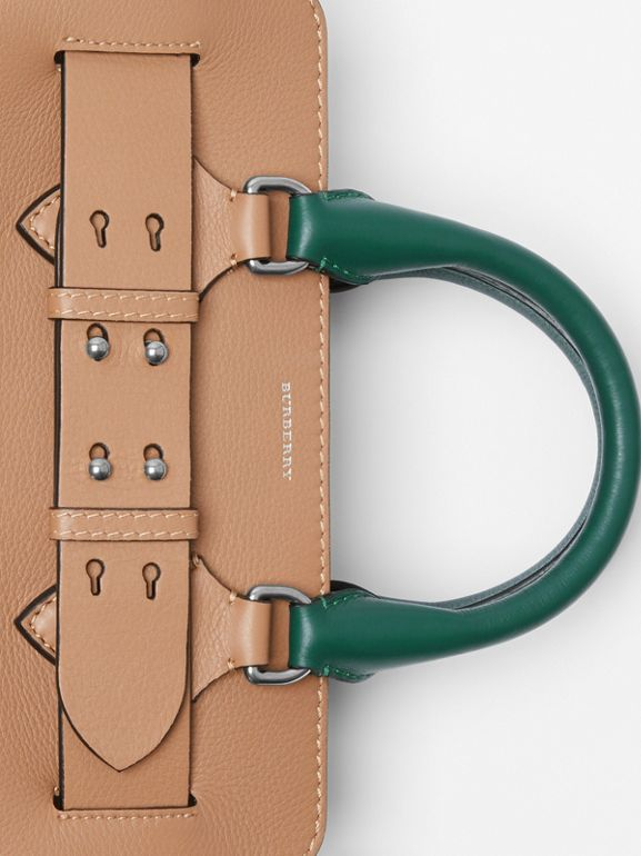 The Small Tri-tone Leather Belt Bag in Light Camel - Women | Burberry United Kingdom - cell image 1