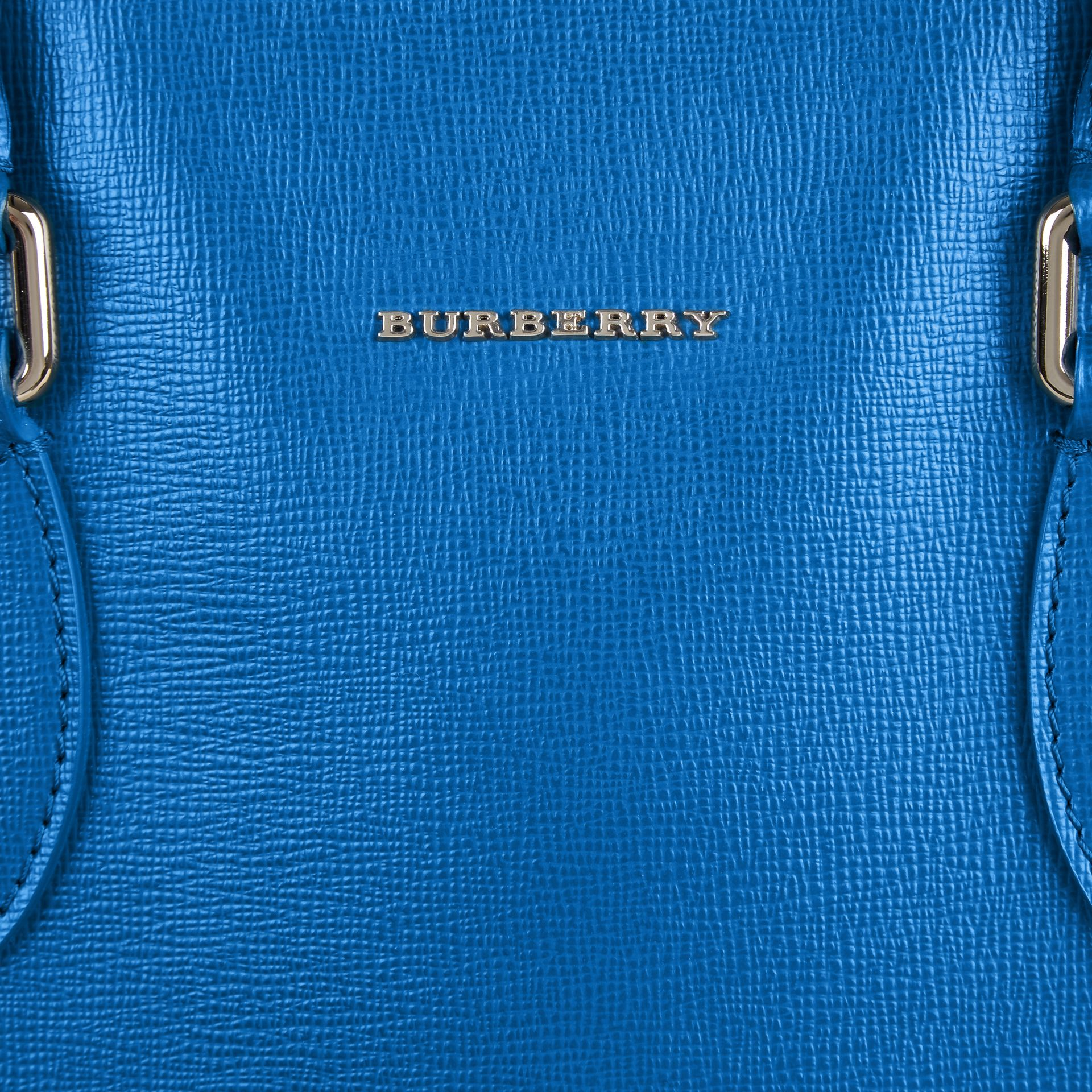 Mineral blue London Leather Tote Bag Mineral Blue - gallery image 2