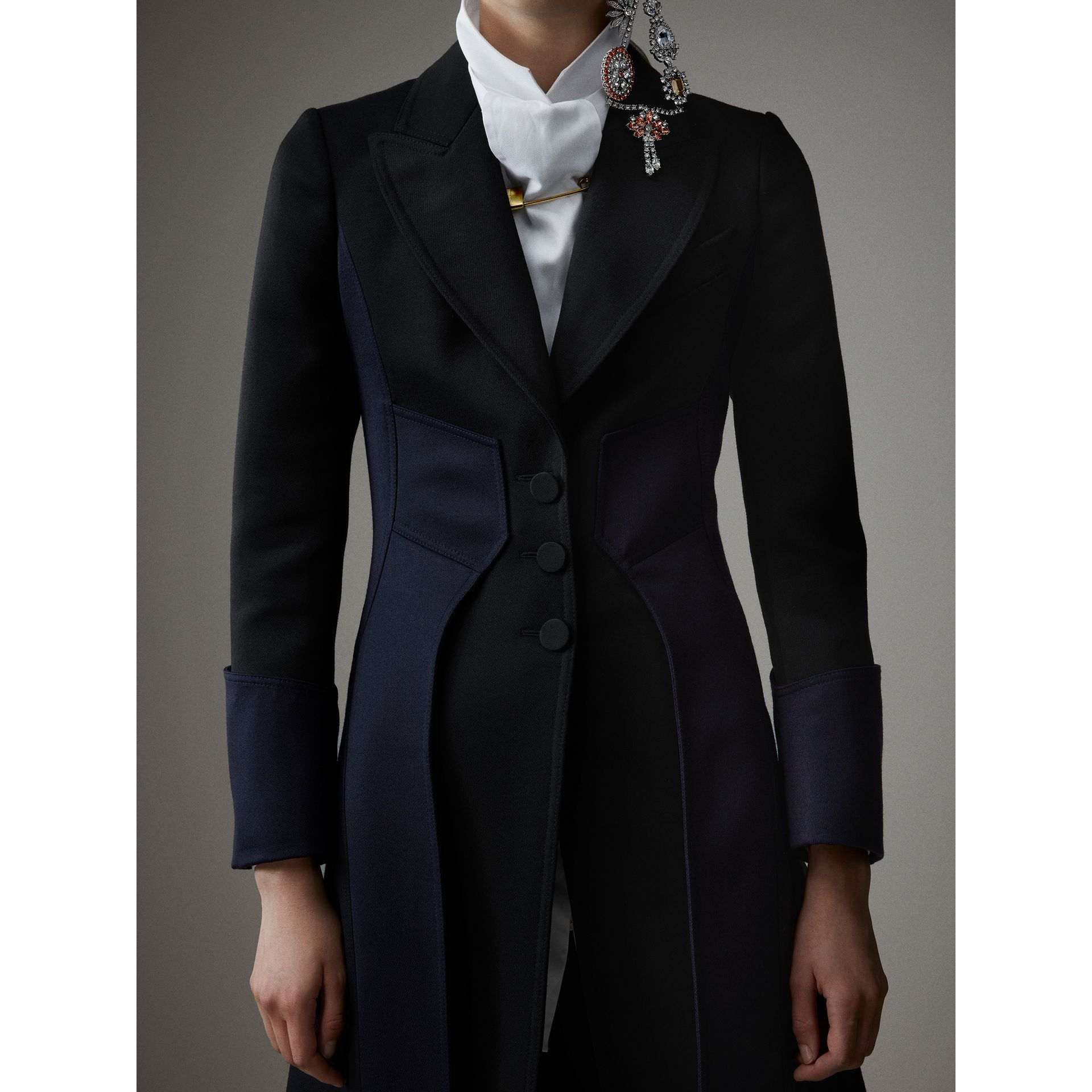 Wool Dressage Coat in Black - Women | Burberry - gallery image 2