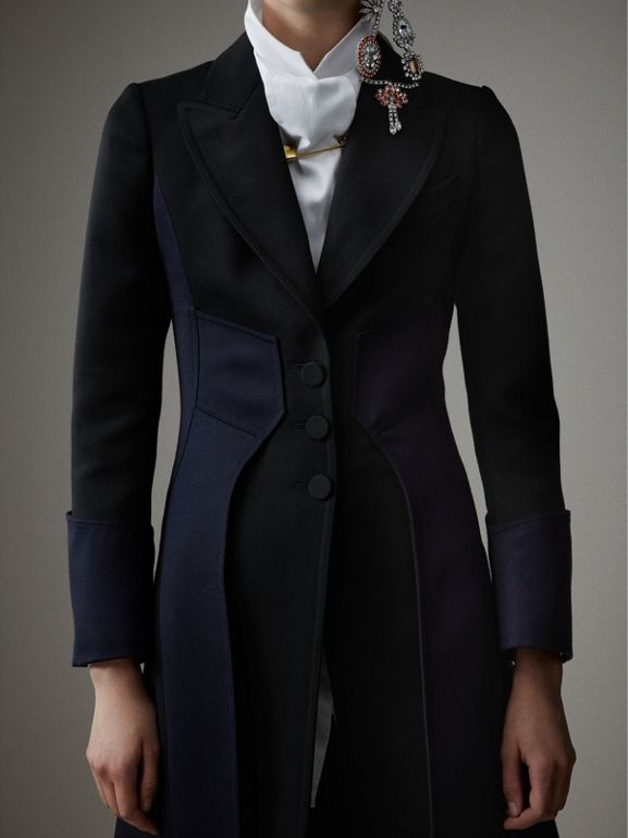 Wool Dressage Coat in Black - Women | Burberry - cell image 1