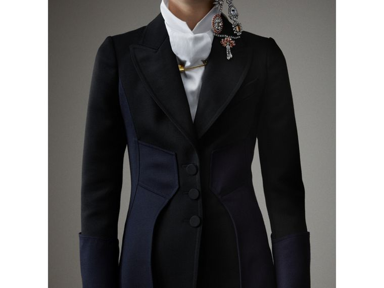 Wool Dressage Coat in Black - Women | Burberry Australia - cell image 1