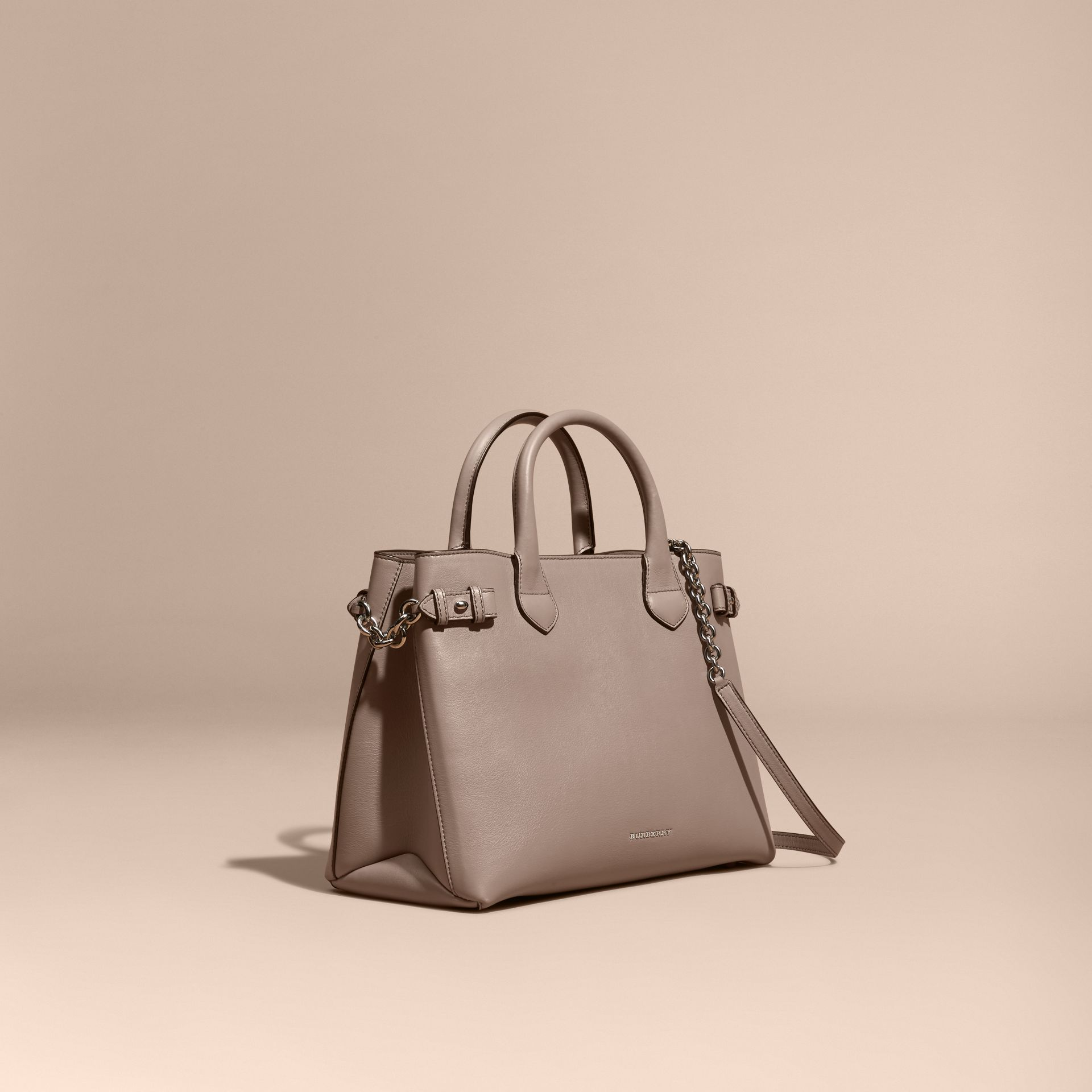 The Medium Banner in Leather with Chain Detail - Women | Burberry - gallery image 1
