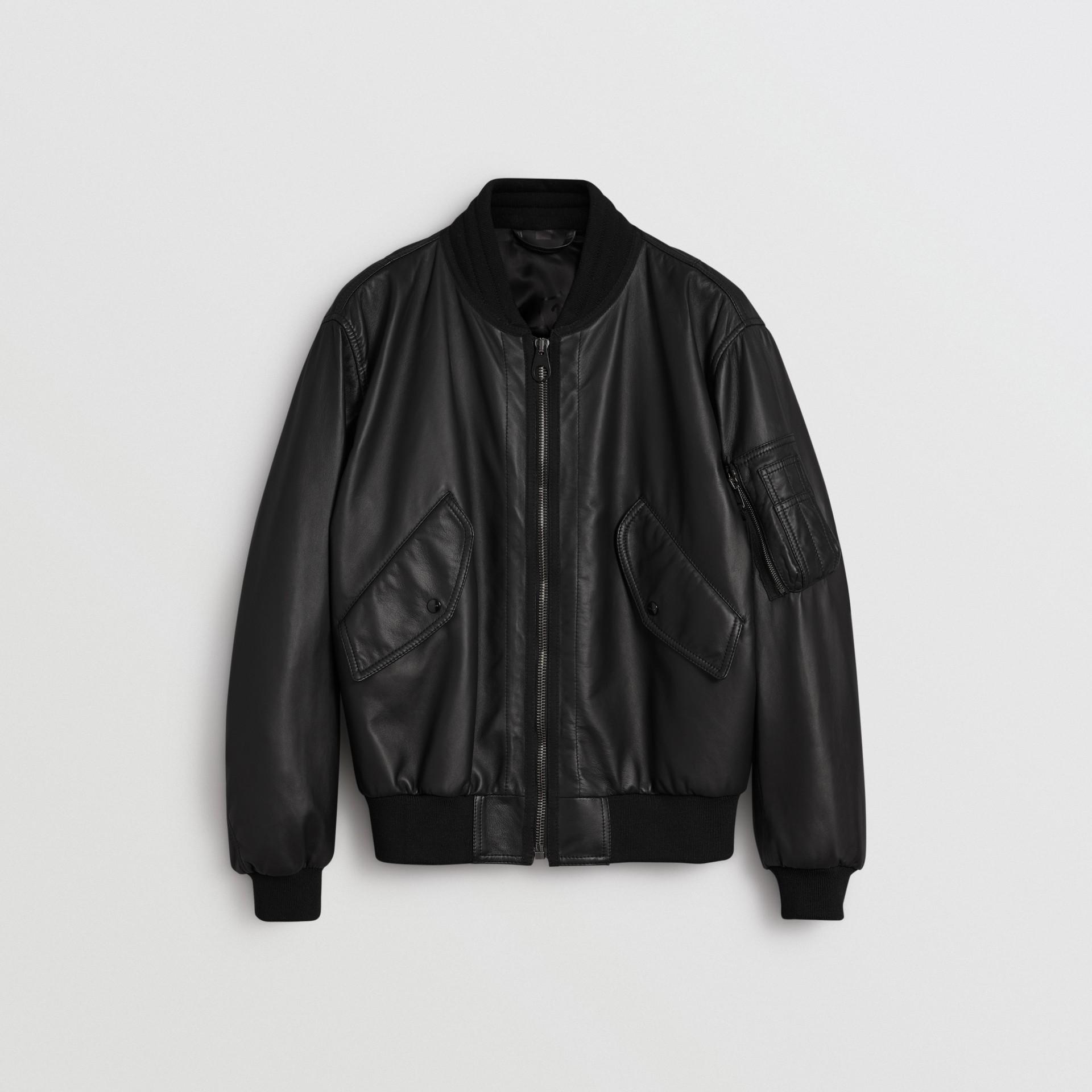 Lambskin Bomber Jacket in Black - Men   Burberry - gallery image 3