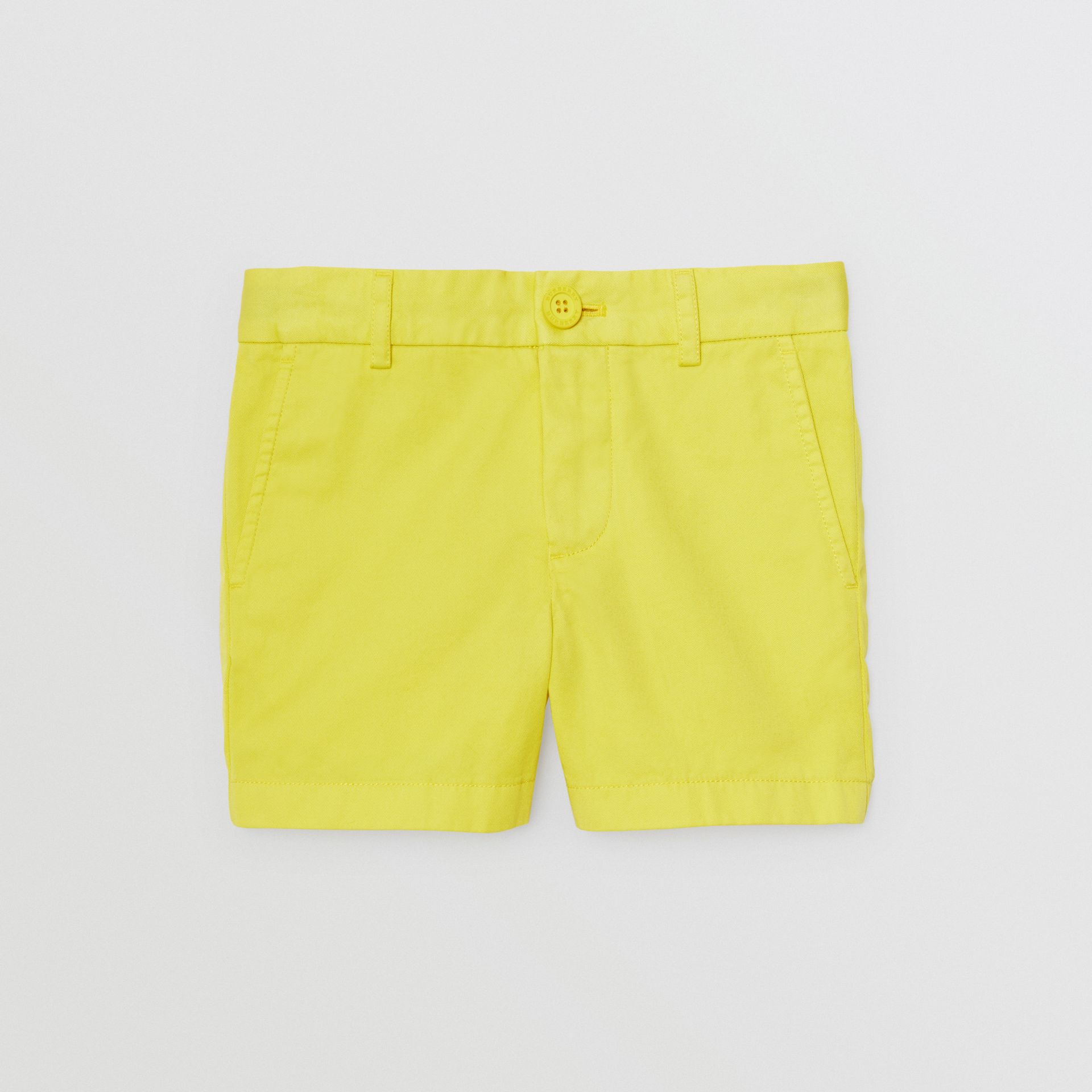 Cotton Chino Shorts in Citron | Burberry - gallery image 0