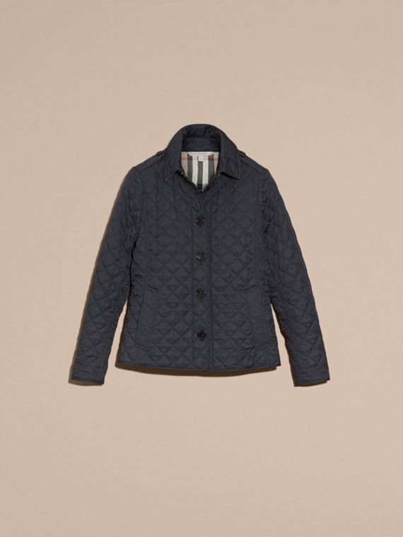 Navy Diamond Quilted Jacket Navy - cell image 3