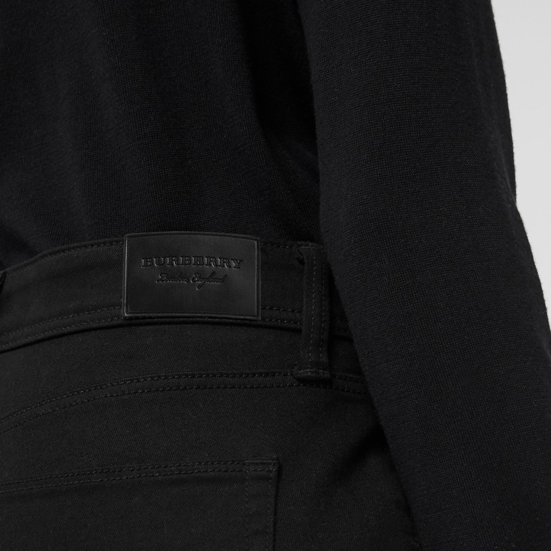 Skinny Fit Low-Rise Deep Black Jeans - Women | Burberry - gallery image 1