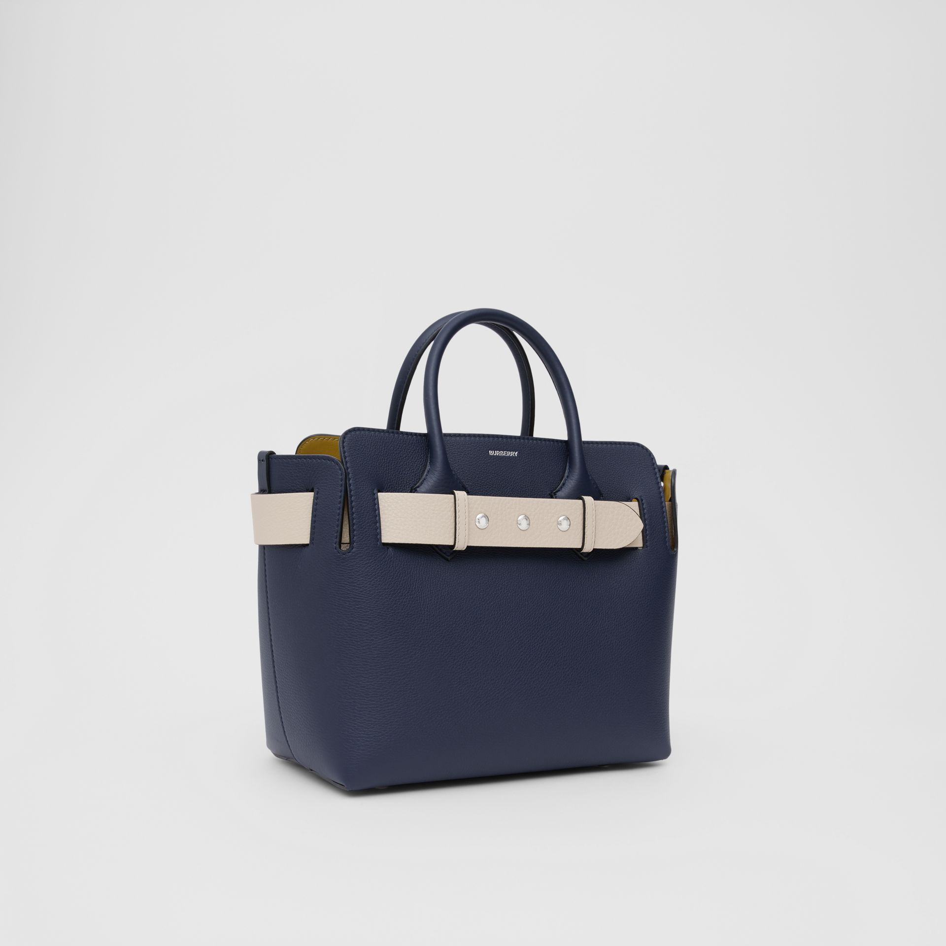 The Small Tri-tone Leather Triple Stud Belt Bag in Regency Blue - Women | Burberry - gallery image 4