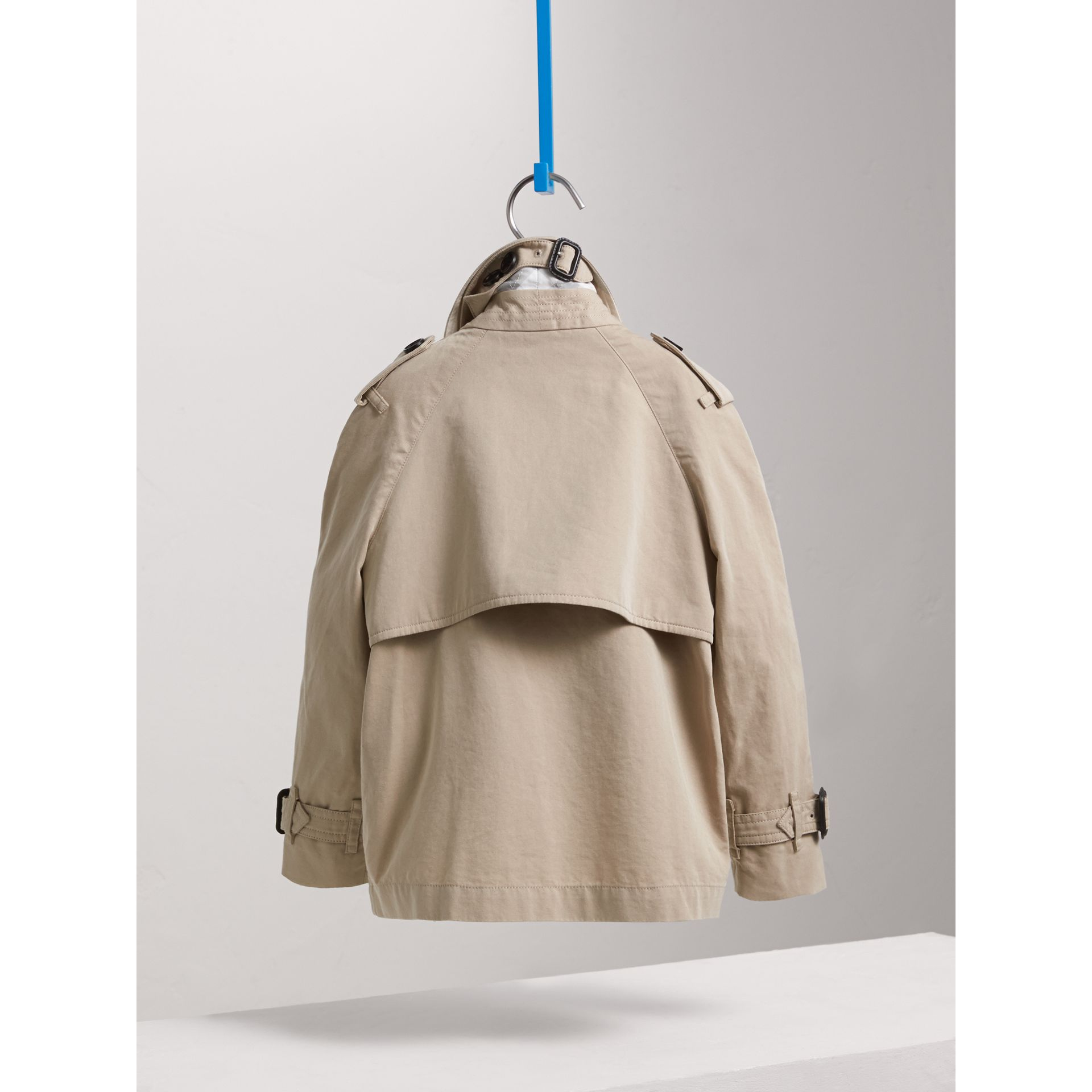 Tropical Gabardine Trench Jacket in Light Taupe | Burberry - gallery image 4