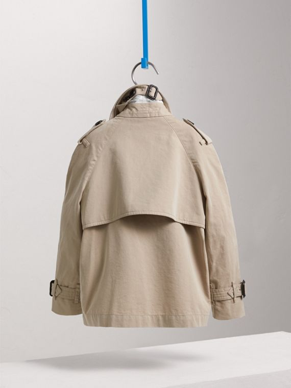 Tropical Gabardine Trench Jacket in Light Taupe | Burberry - cell image 3