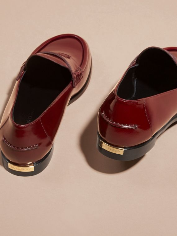 Mahogany red Polished Leather Loafers Mahogany Red - cell image 3