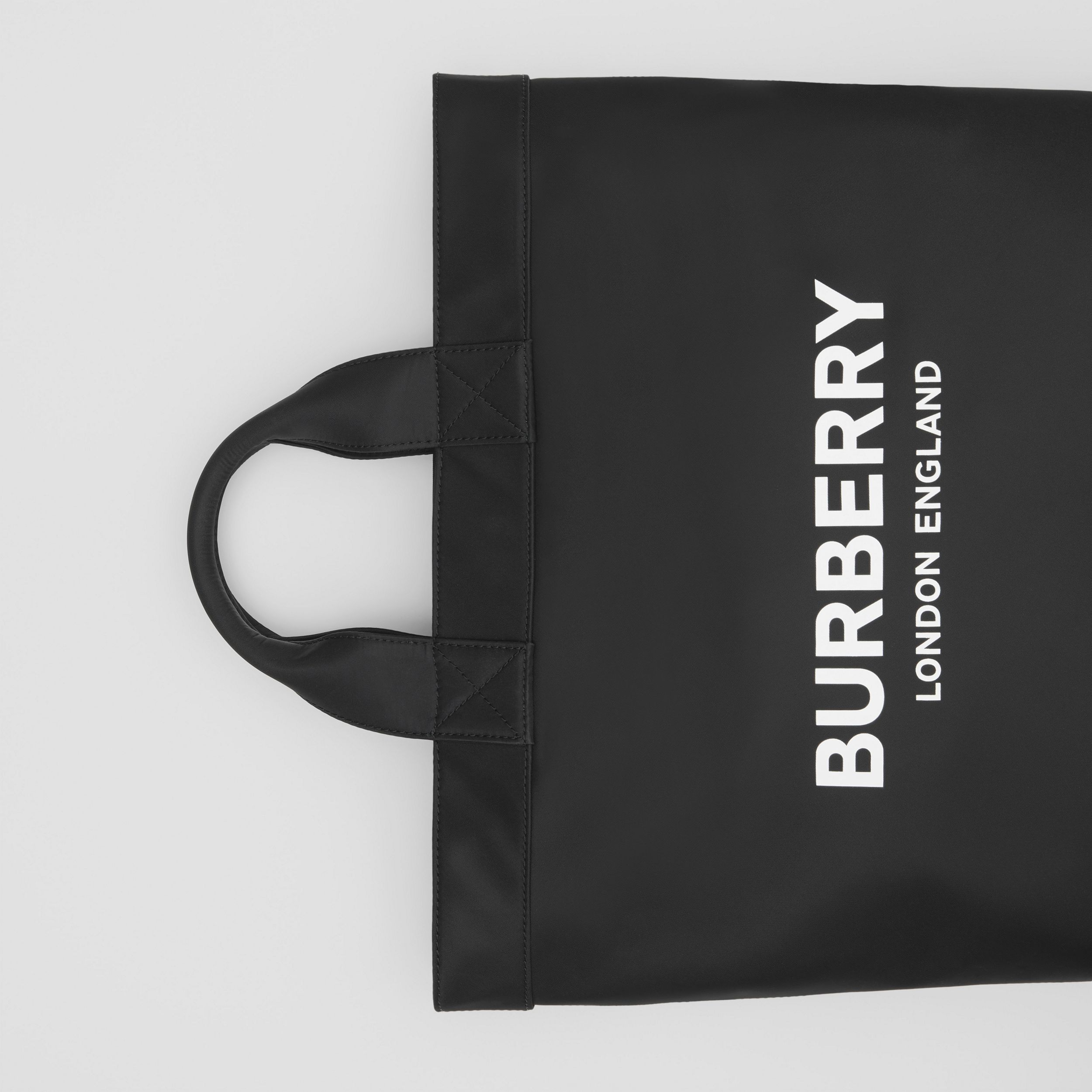 Logo Print ECONYL® Tote in Black - Men | Burberry United Kingdom - 2