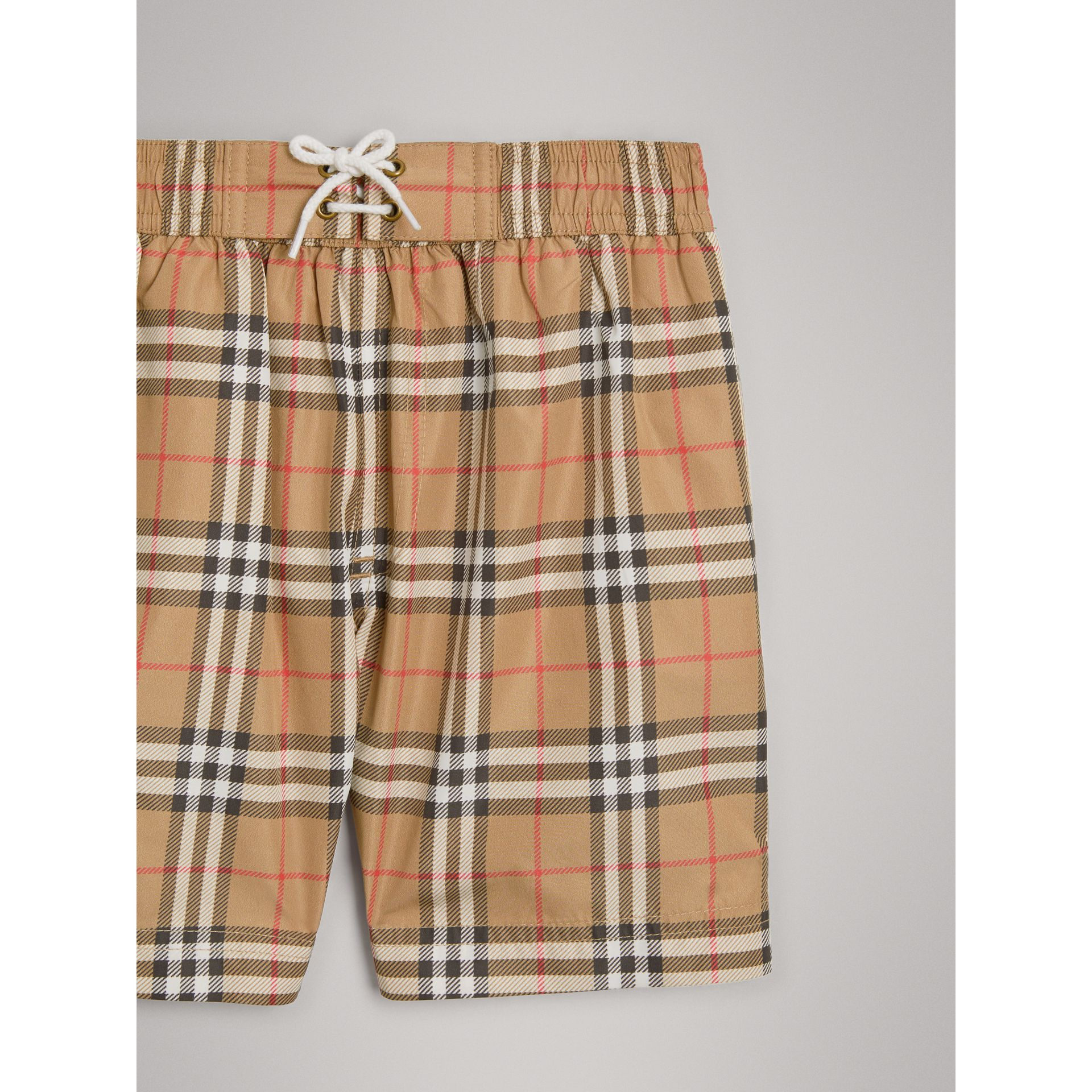Vintage Check Swim Shorts in Camel - Boy | Burberry Hong Kong - gallery image 4