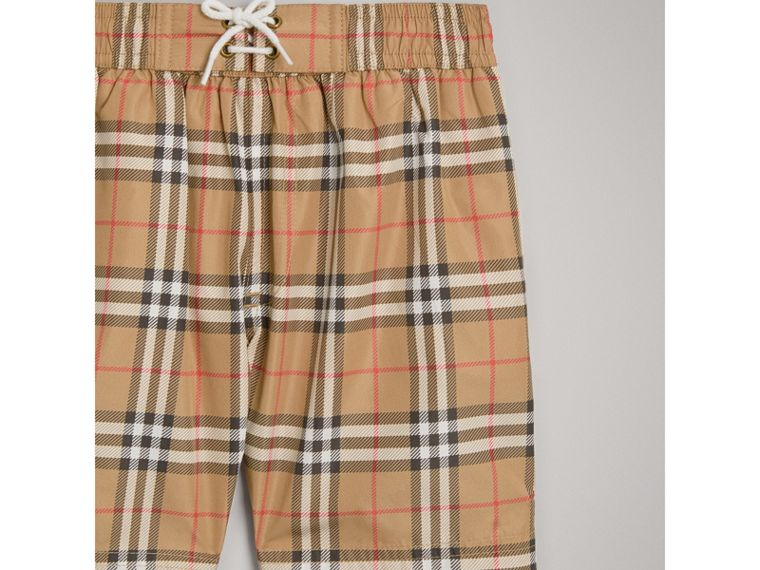 Vintage Check Swim Shorts in Camel - Boy | Burberry Australia - cell image 4