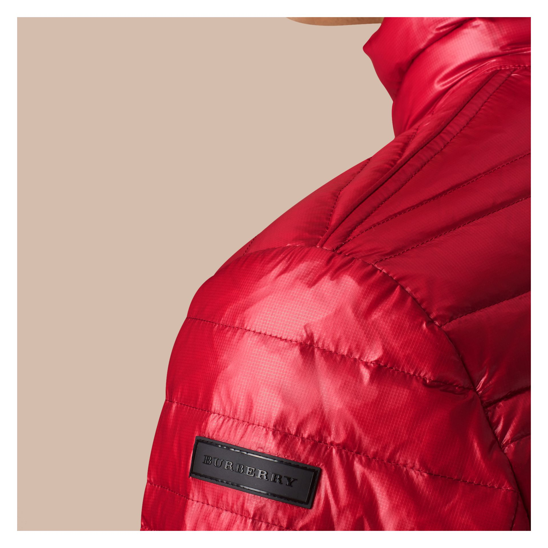 Lightweight Down-filled Jacket Parade Red - gallery image 4
