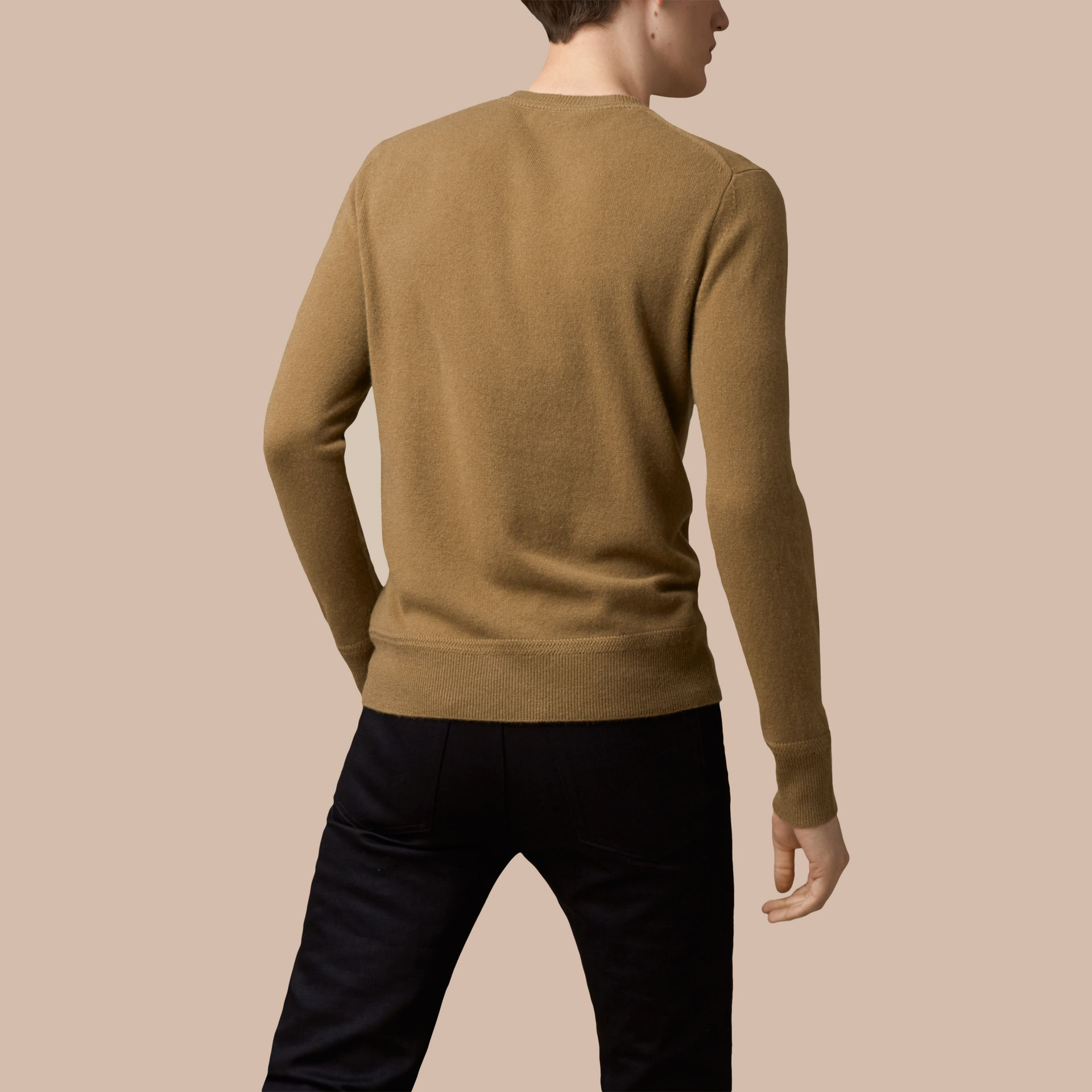 Heritage Detail Cashmere Sweater - Men | Burberry - gallery image 3