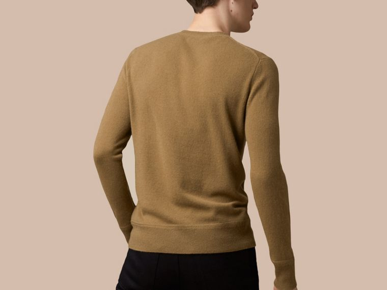 Heritage Detail Cashmere Sweater - Men | Burberry - cell image 2