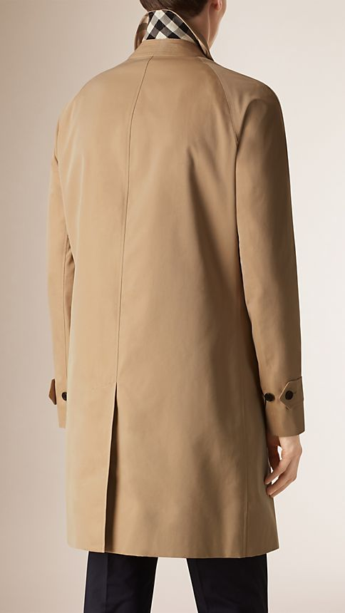 Honey Cotton Gabardine Car Coat - Image 3