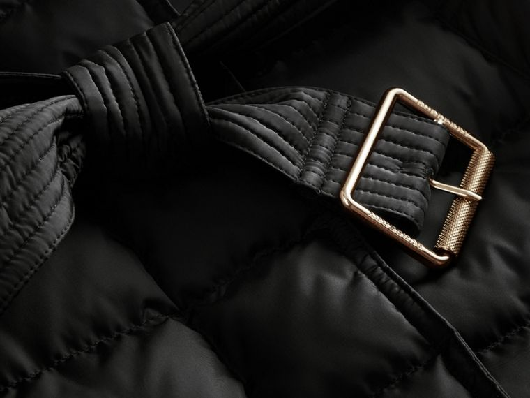 Down-filled Puffer Jacket with Packaway Hood in Black - Women | Burberry - cell image 1