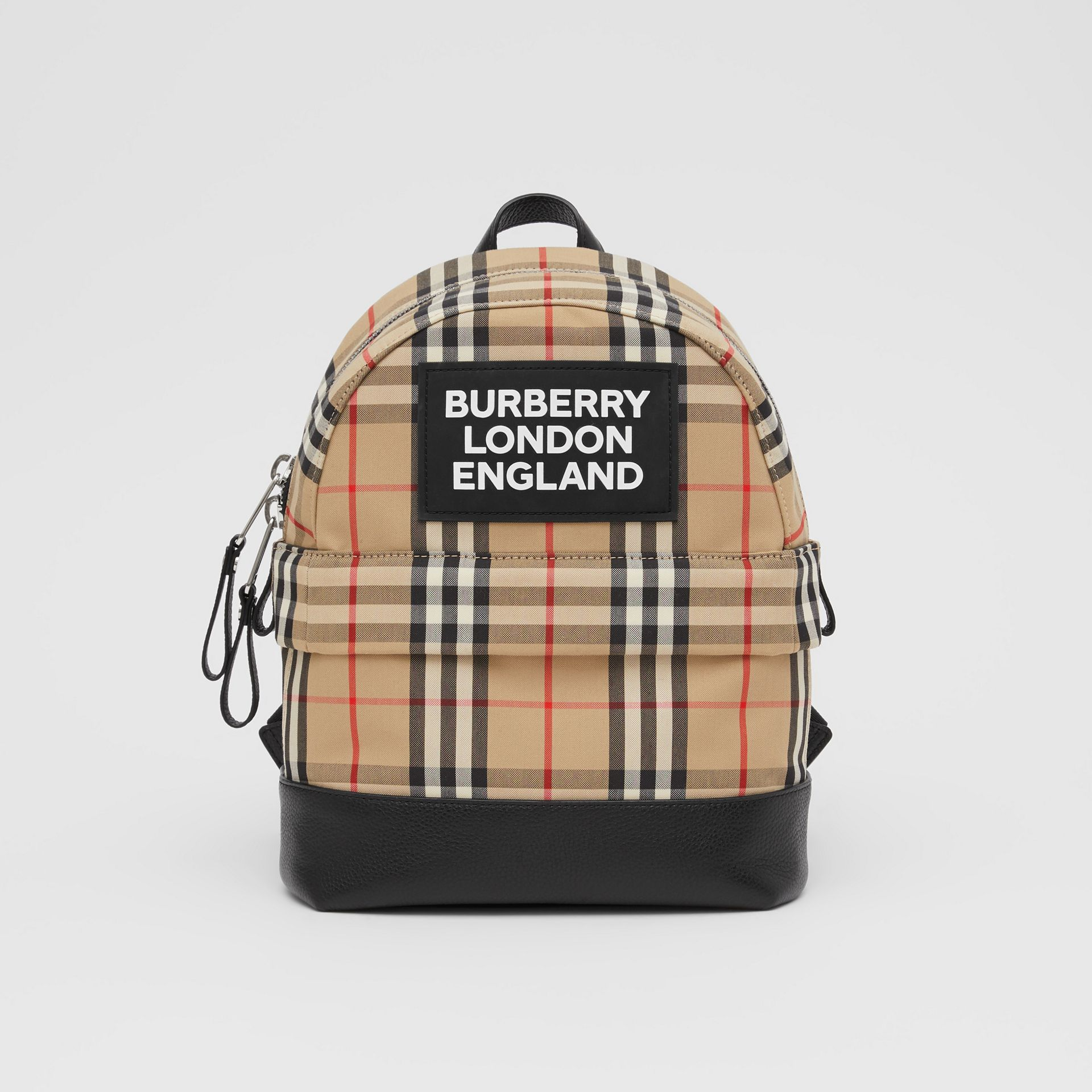Logo Appliqué Vintage Check Backpack in Archive Beige - Children | Burberry United Kingdom - gallery image 0