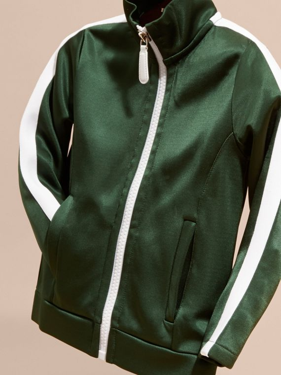 Deep green High-shine Technical Track Jacket Deep Green - cell image 2