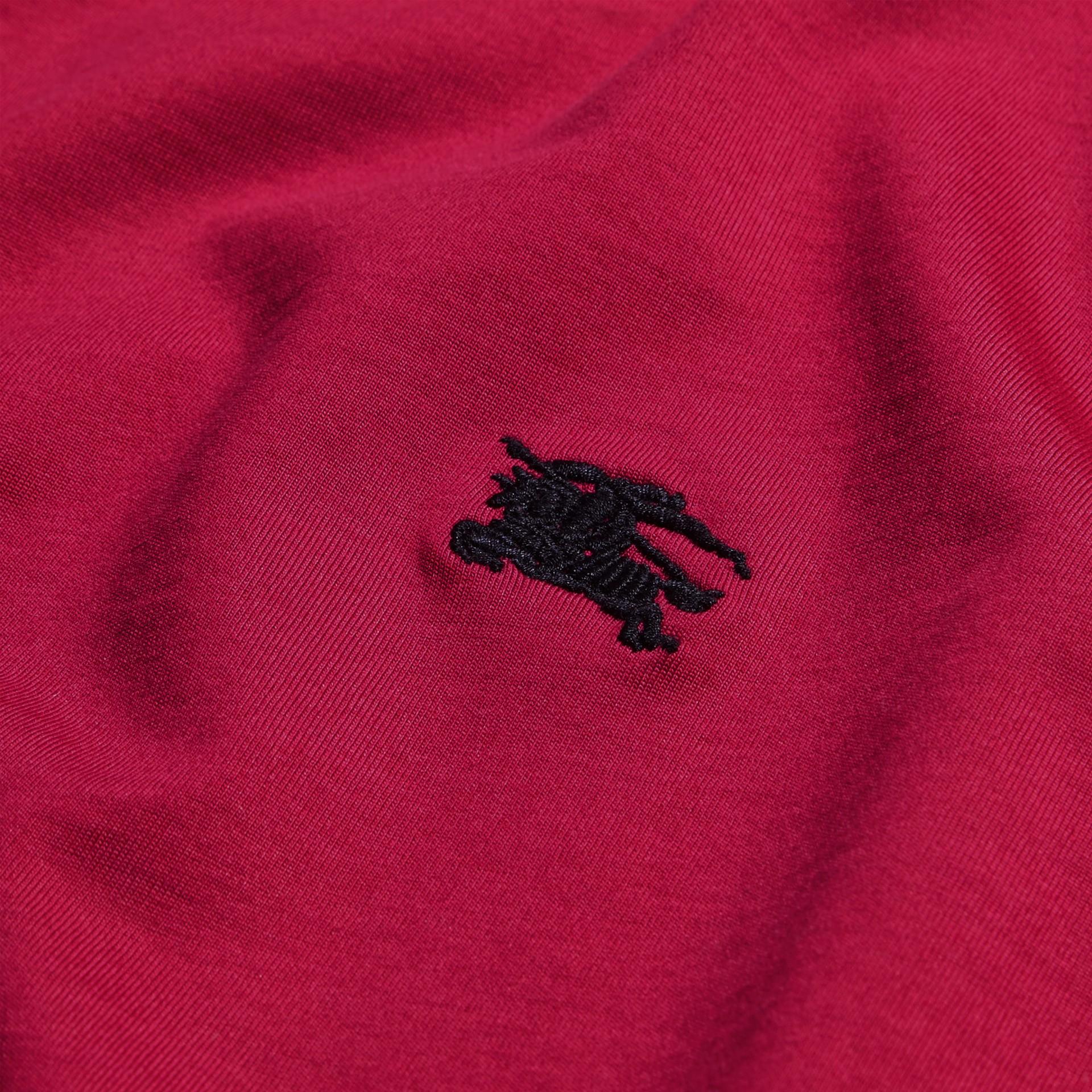 Fucsia acceso T-shirt in cotone morbidissimo Fucsia Acceso - immagine della galleria 2