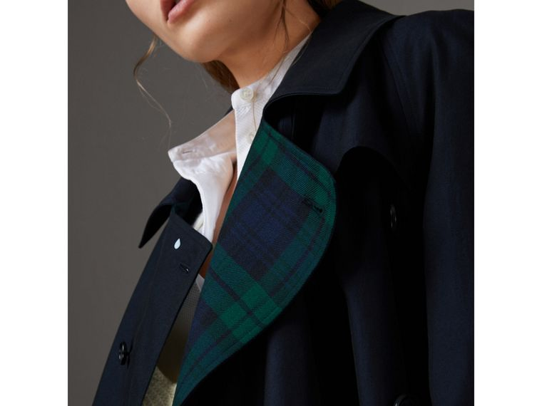 Tropical Gabardine Asymmetric Trench Coat in Blue Carbon - Women | Burberry Australia - cell image 1