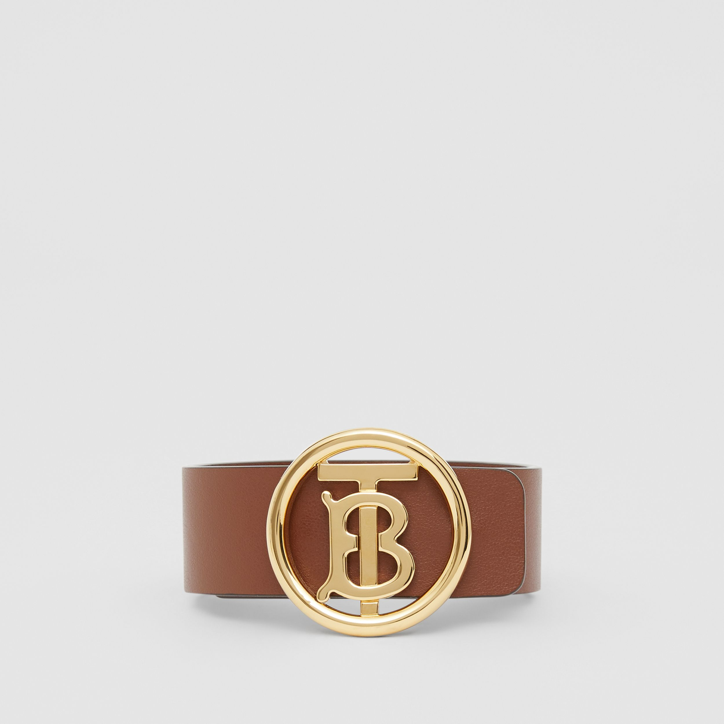 Monogram Motif Leather Bracelet in Tan | Burberry - 1