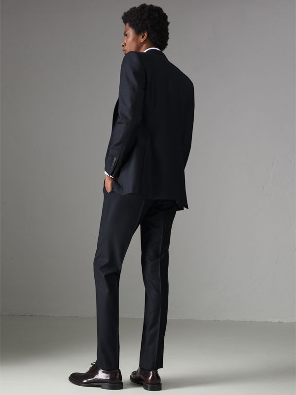 Slim Fit Birdseye Wool Suit in Navy - Men | Burberry United Kingdom - cell image 2