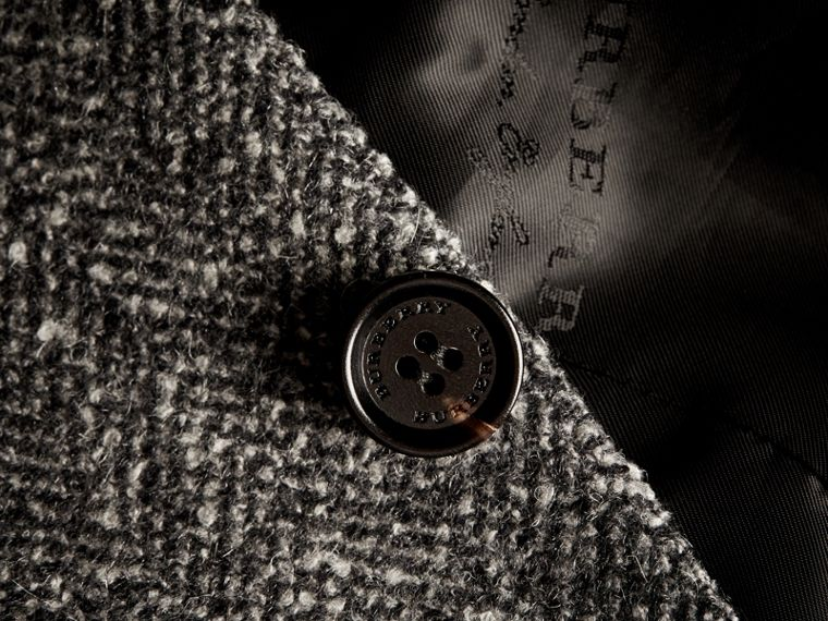 Dark grey Tailored Wool Cashmere Blend Donegal Tweed Jacket - cell image 1