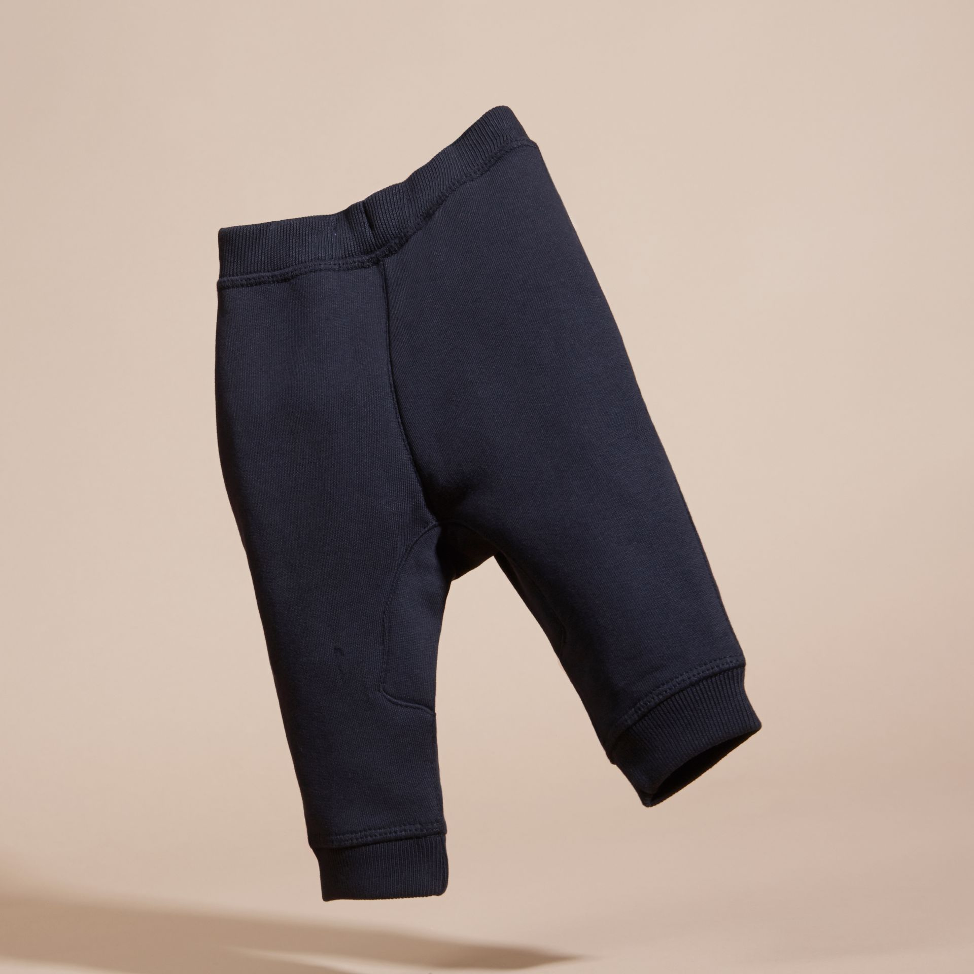 Dark navy Cotton Sweat Pants - gallery image 4