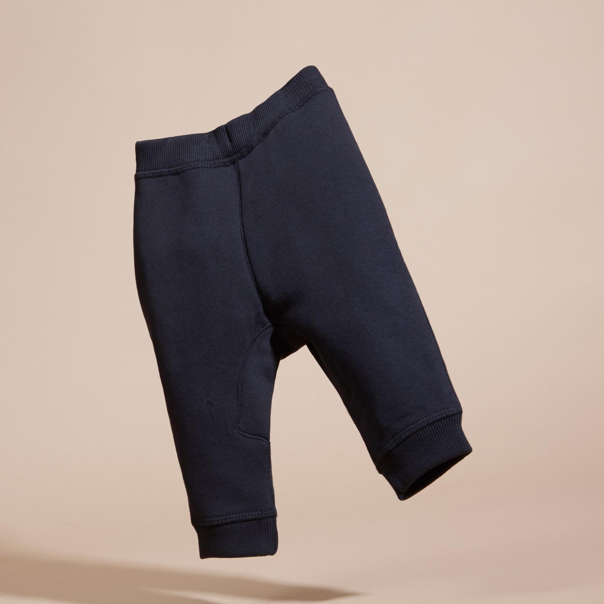 Marine foncé Pantalon de survêtement en coton - photo de la galerie 4