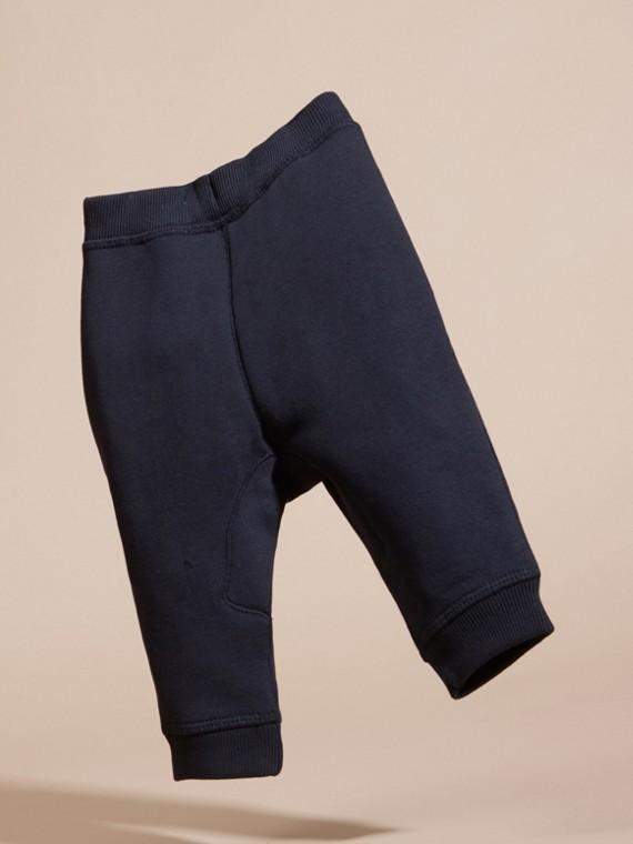 Marine foncé Pantalon de survêtement en coton - cell image 3