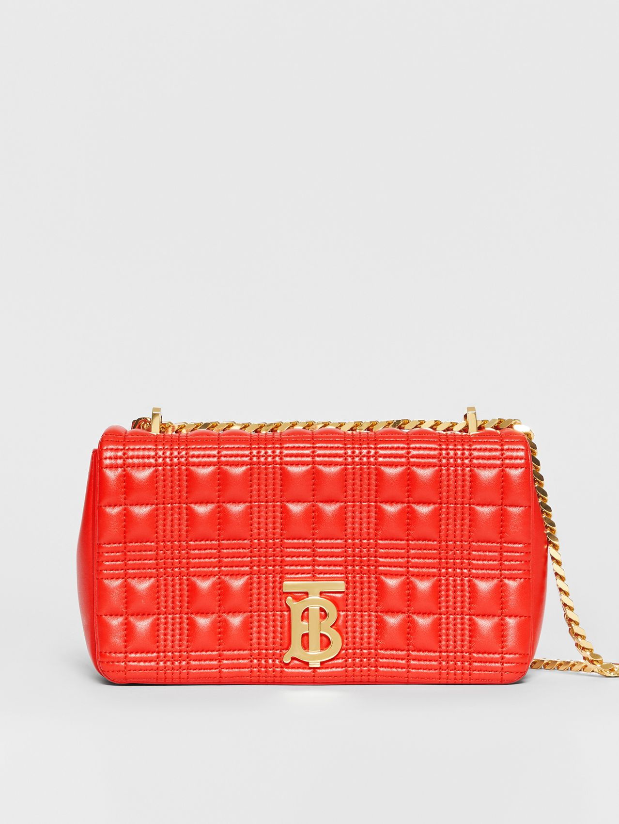 Small Quilted Lambskin Lola Bag in Bright Red