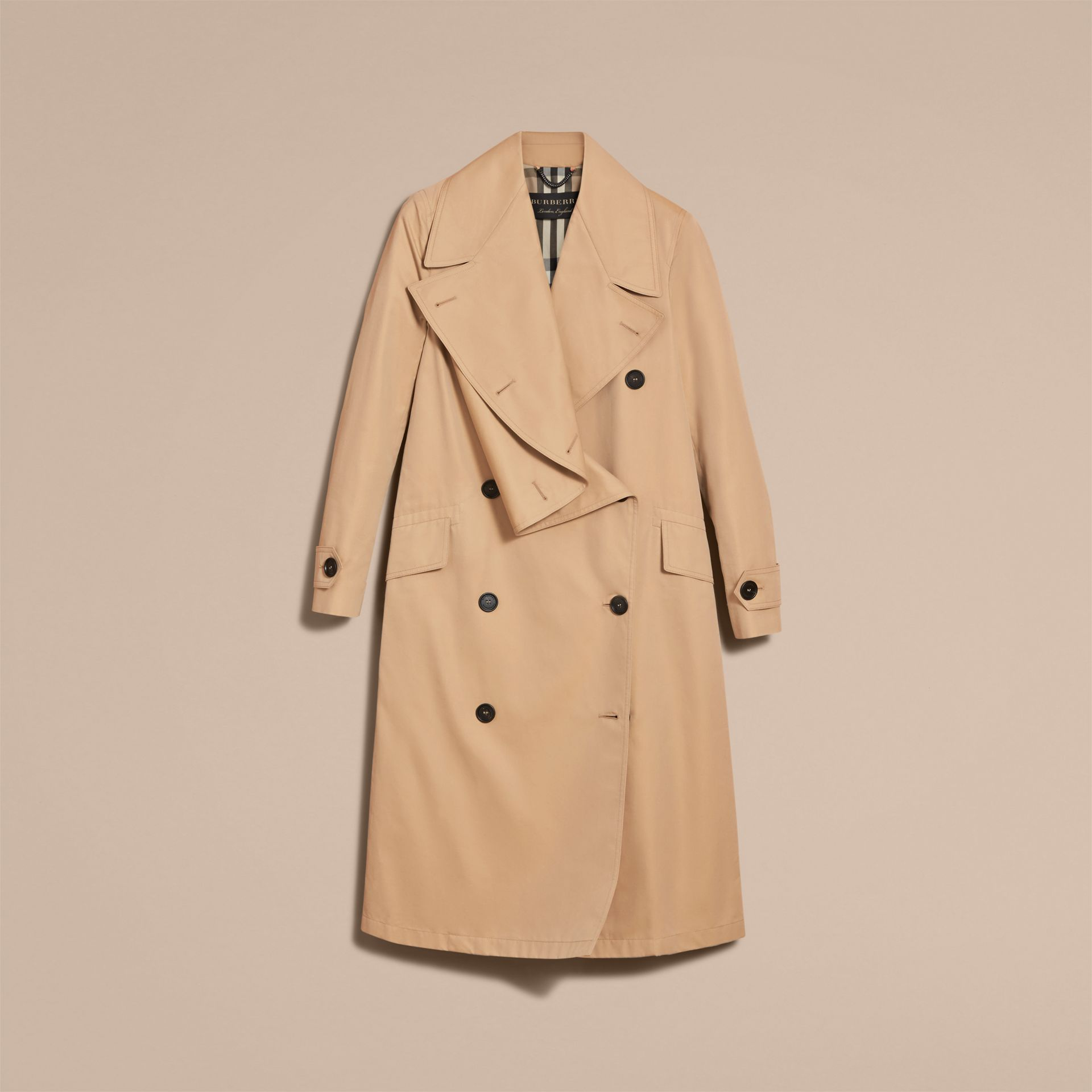 Curved Closure Cotton Gabardine Coat - Women | Burberry - gallery image 4