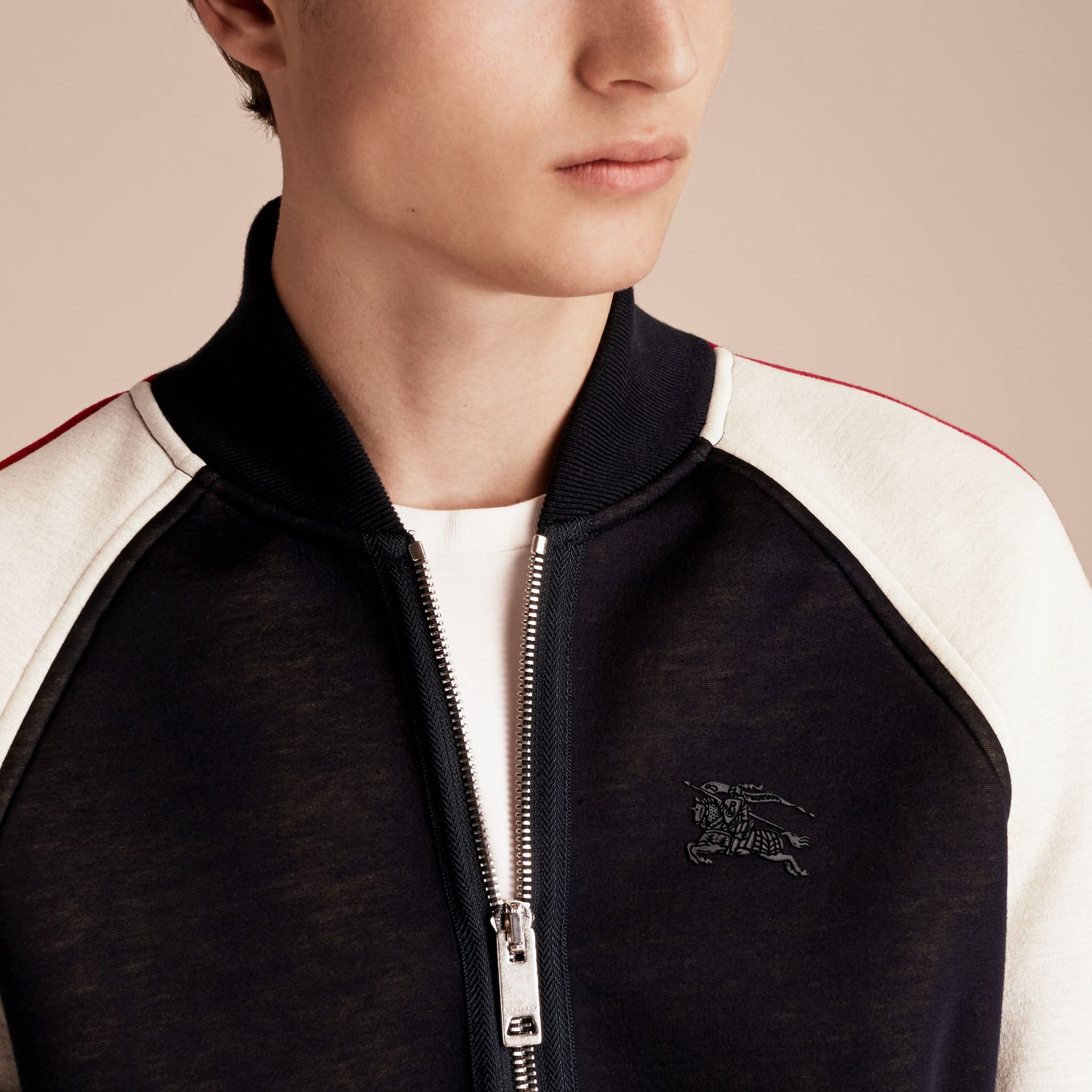 Panelled Jersey Bomber Jacket - Men | Burberry Singapore - gallery image 5
