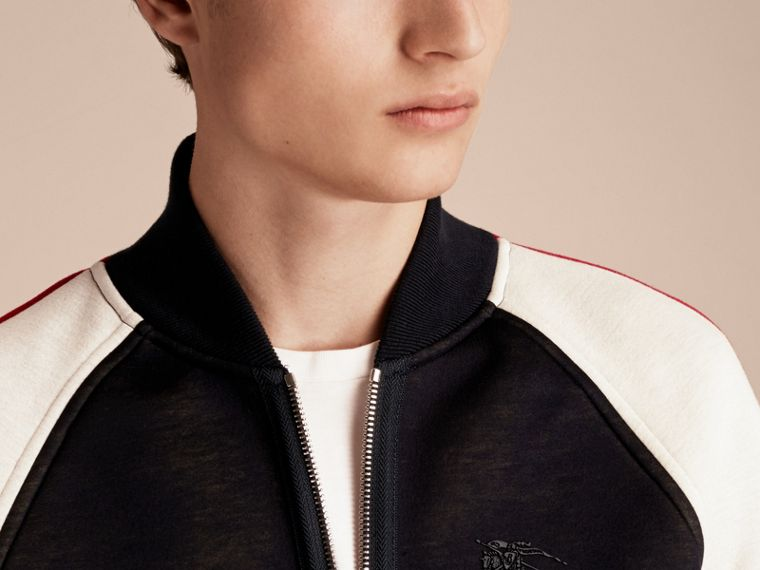 Panelled Jersey Bomber Jacket - Men | Burberry Singapore - cell image 4