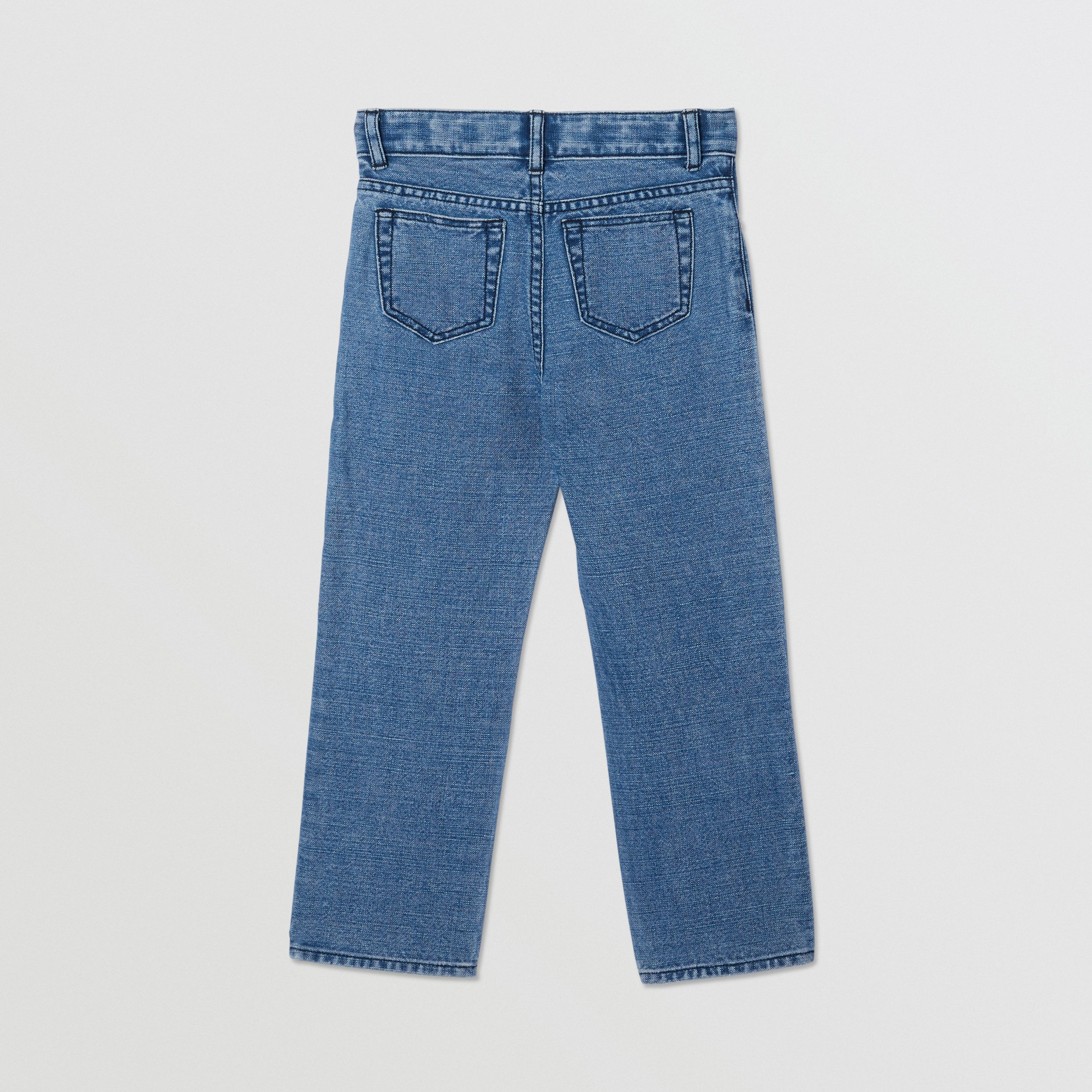 Logo Print Japanese Denim Jeans in Indigo | Burberry - 4