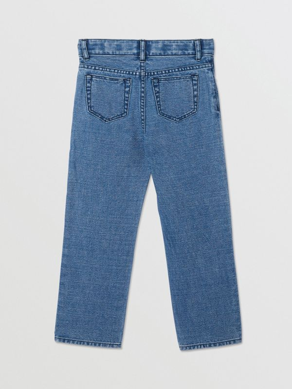 Logo Print Japanese Denim Jeans in Indigo - Boy | Burberry - cell image 3