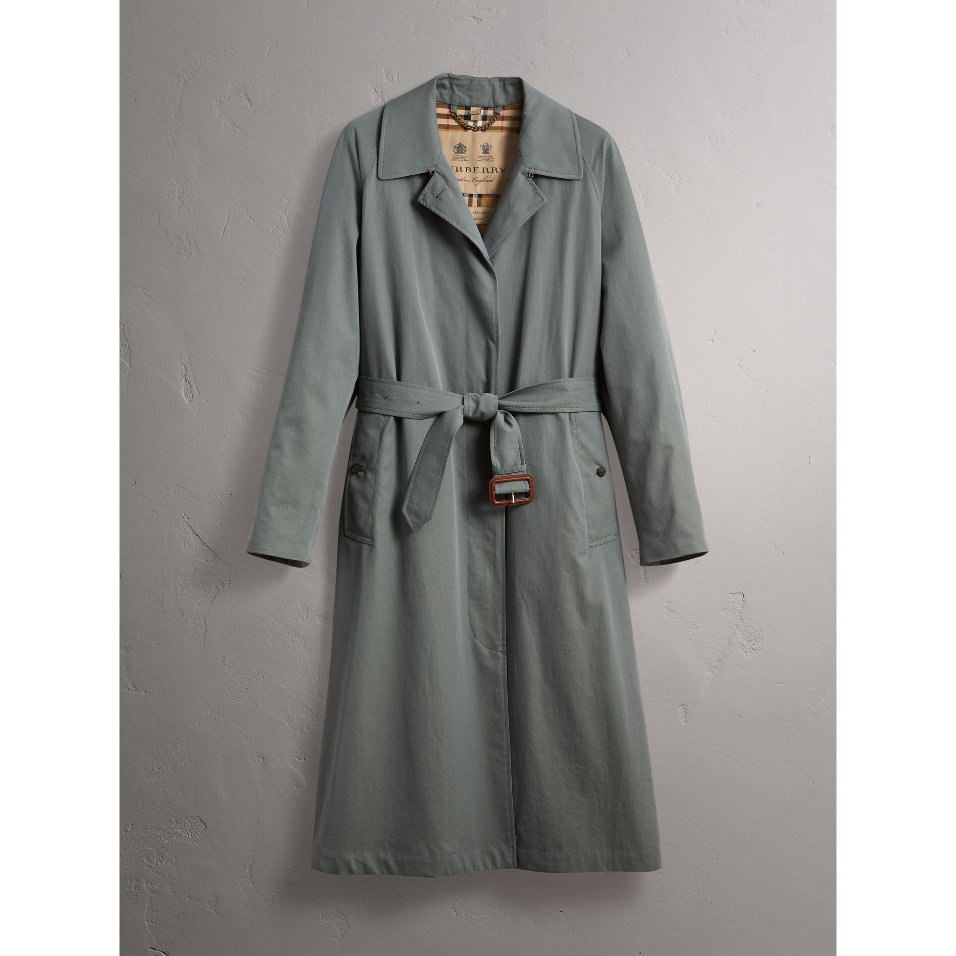The Brighton – Extra-long Car Coat in Dusty Blue - Women | Burberry Canada - gallery image 4