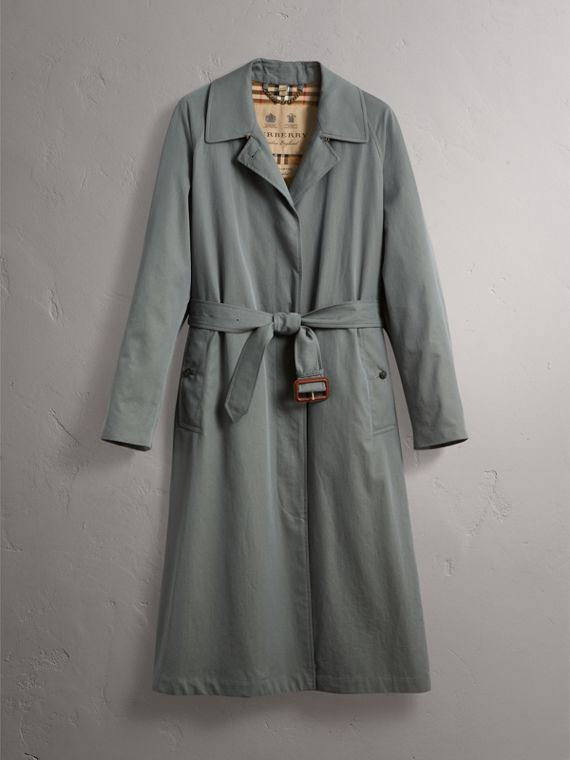 The Brighton – Extra-long Car Coat in Dusty Blue - Women | Burberry Canada - cell image 3