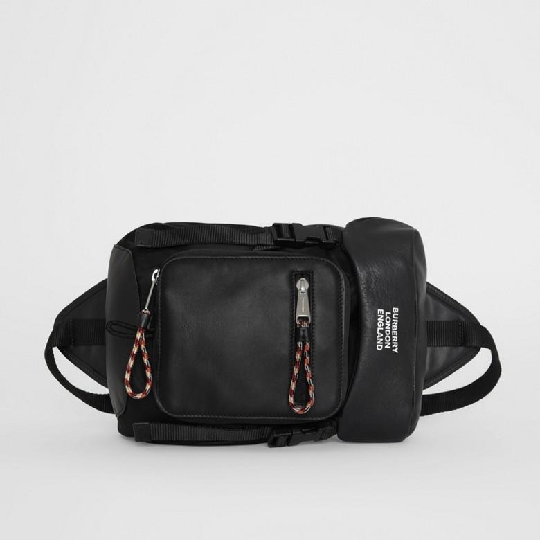 Burberry - Sac à dos ceinture Leo en cuir avec logo - 4