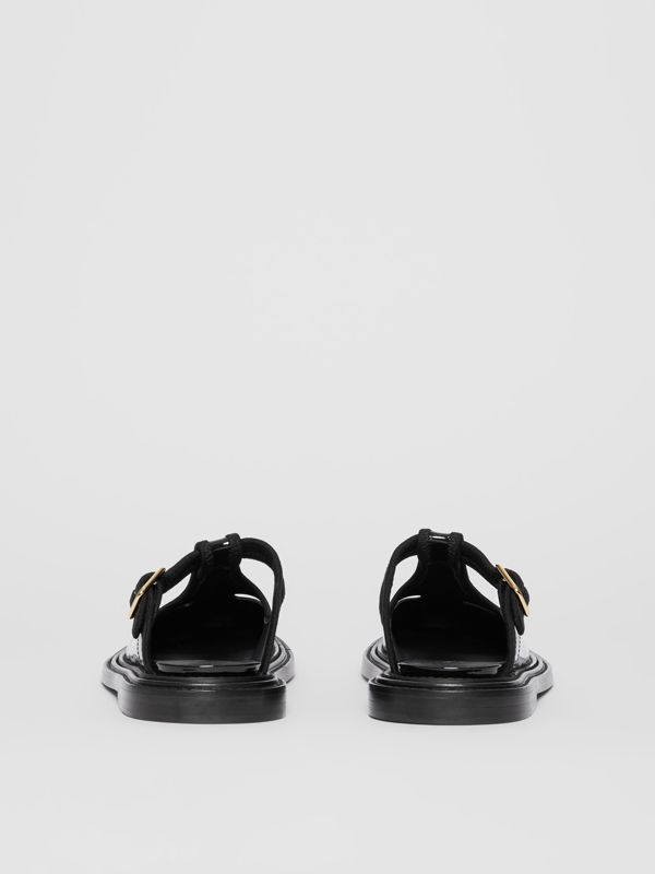 Patent Leather T-bar Mules in Black - Women | Burberry - cell image 3