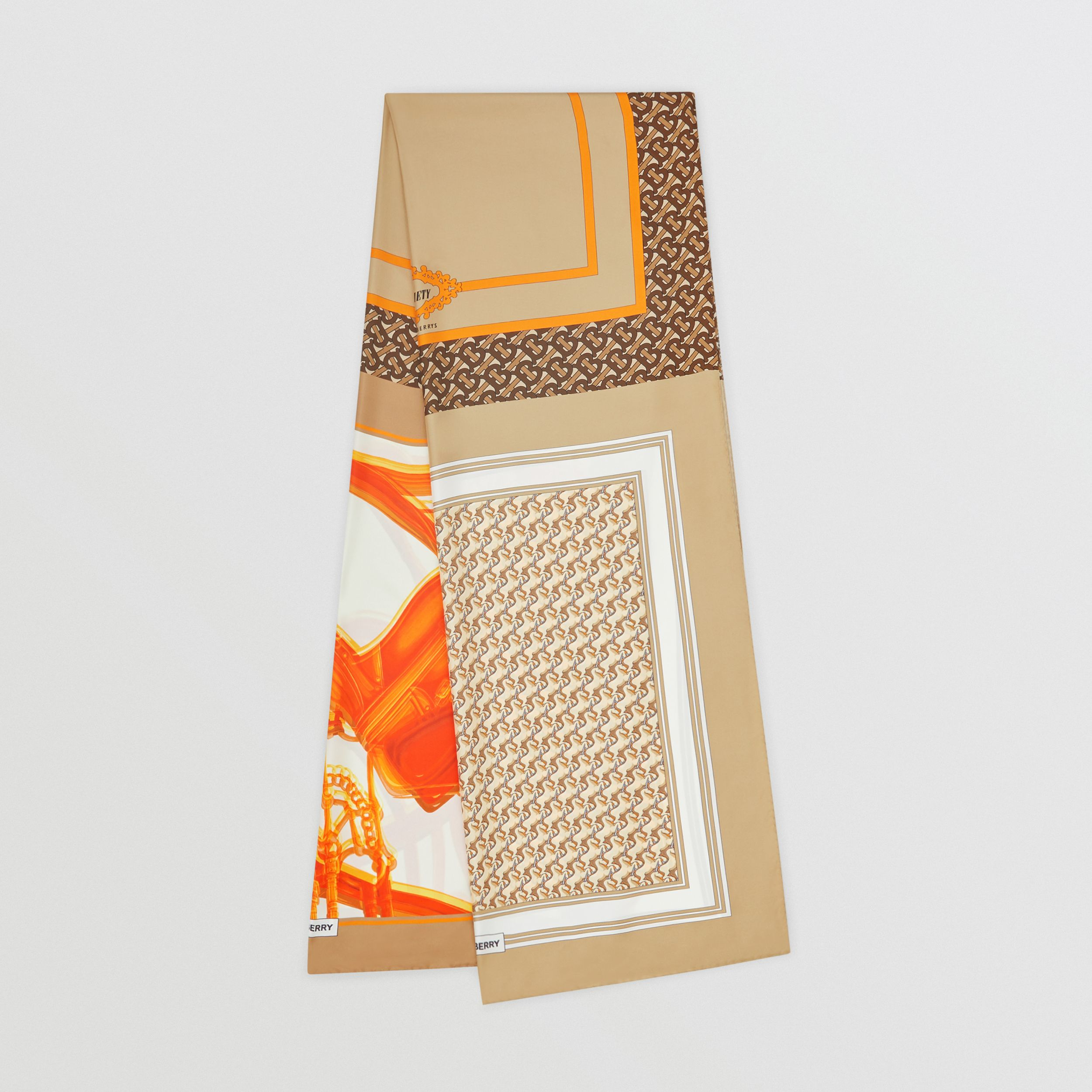 Montage Print Silk Scarf in Archive Beige | Burberry - 1