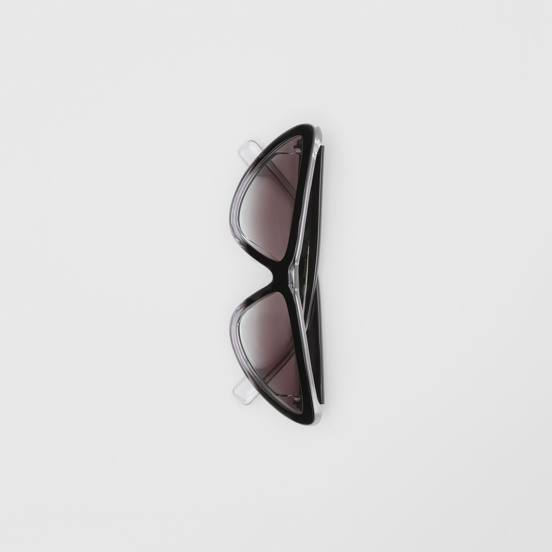 Gradient Detail Triangular Frame Sunglasses in Black - Women | Burberry Hong Kong - gallery image 3